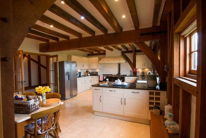 The Great Barn Essex Kitchen Area